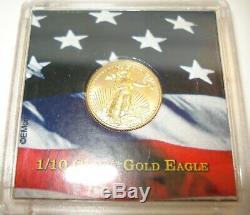 1/10 Oz Fine Gold 2016 Liberty American Eagle Coin $5 Brilliant Uncirculated