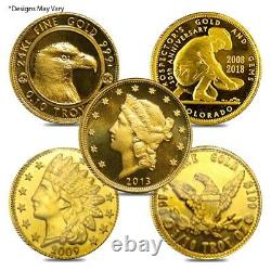 1/10 oz Generic Gold Coin / Round. 999/. 9999 Fine (Secondary Market)