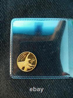 1/10 oz. Liberty coin. 9999 Fine Gold Eagle