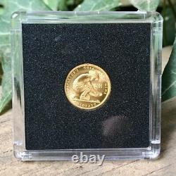 1/10 oz Pure Gold Coin in Capsule 24KT. 999+ Fine Gold Prospector