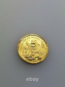 1/20 Troy Ounce 999 Fine Gold Coin Panda China Pure Bullion 1991 5 Yuan Chinese