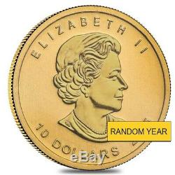 1/4 oz $10 Canadian Gold Polar Bear and Cub. 9999 Fine BU (Random Year, Sealed)