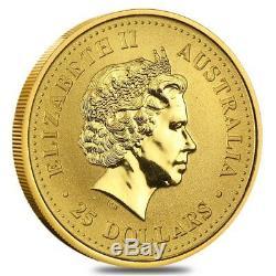 1/4 oz Australian Kangaroo/Nugget Gold Coin. 9999 Fine BU/PF (Random Year)