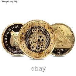 1/4 oz Gold Round/Coin Random. 999+ Fine (Scruffy)