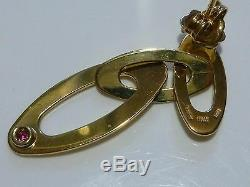 1 5/8 Roberto Coin 18k Yellow Gold Chic & Shine Oval Triple Dangle Earrings
