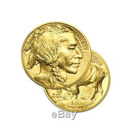 1 Gold 2020 American buffalo 1 Troy oz. 9999 Fine Gold Bullion $50 US Mint Coin