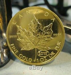 1 OZ. 9999 Fine Gold 50 Dollar Canadian Coin 1999 Elizabeth II Canada Maple Leaf