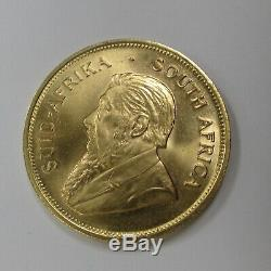 1 Ounce Fine Gold South African Krugerrand (stock Photo)