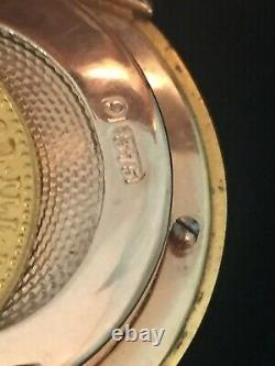1 ducat gold bullion coin & 9ct gold sovereign gold coin case/holder c1904 rose