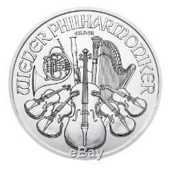 1 oz Austrian Philharmonic Silver Random Year 1 oz. 999 fine Silver Coin
