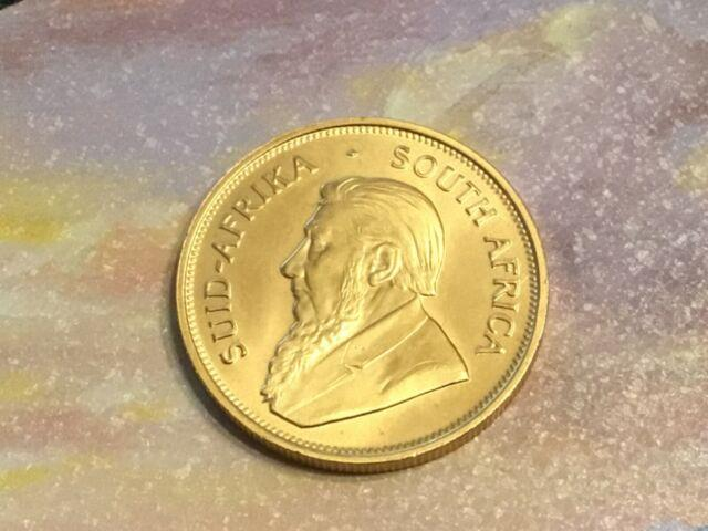 1 Oz. Fine Gold South African Krugerrand Coin 1975, Beautiful