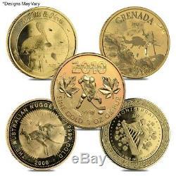 1 oz Gold Coin Random Mint. 999+ Fine (Scruffy)