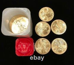 10- 2020-gem Bu 1 Oz. 999 Fine Gold American Gold Eagles