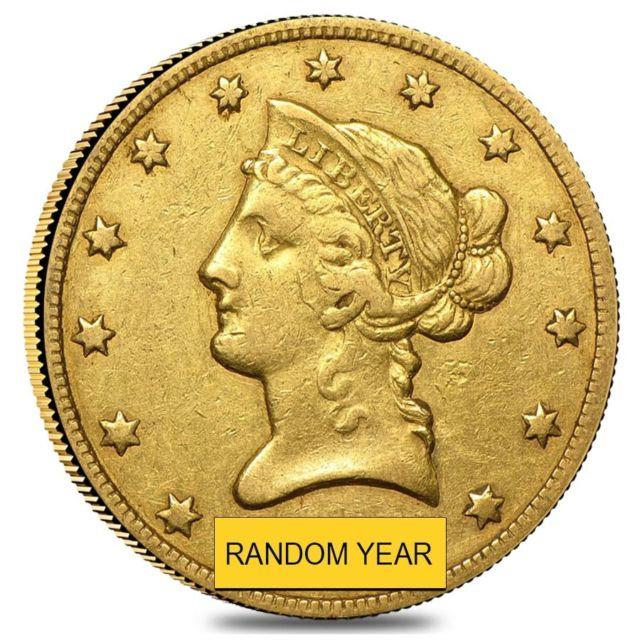 $10 Gold Eagle Liberty Head Extra Fine Xf (random Year)
