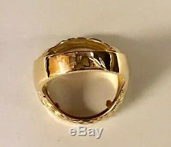 14 KT SOLID YELLOW GOLD MENS RING 25MM for 1/4oz US LIBERTY COIN