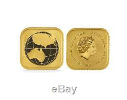 $15 1/10oz Australian Gold Square Map. 9999 fine Legal Tender (Random Date)