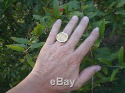 1500 ERA SPAIN KINGS CHARLES & JOHANNA 1 ESCUDO GOLD 1E COIN RING 35.9 Grs