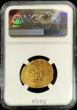 1556-1598 S B Gold Spain 2 Escudos Philip II Seville Mint Ngc Extremely Fine 40