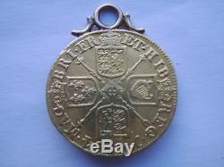 1714 Gold Full Guinea George 111 GOLD COIN 22CT MOUNTED AS A PENDANT CHARM