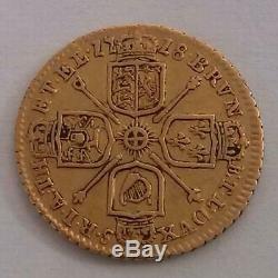 1718 Gold Quarter Guinea Coin George I Very Fine