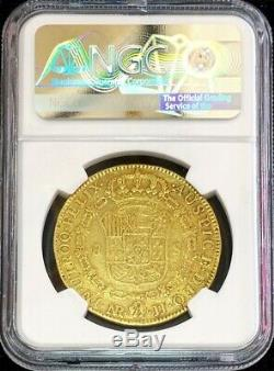 1792 Nr Jf Gold Colombia 8 Escudos Charles IV Coin Nuevo Reino Ngc Very Fine 30
