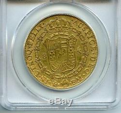 1795 Gold 8 Escudos Mo FM ANACS VF 35 (Very Fine) Spanish Colonial Mexico Coin