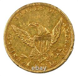 1836 Classic Head Gold Quarter Eagle Early US Coin $2.50 Extra Fine