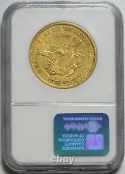 1850 GOLD $20 LIBERTY DOUBLE EAGLE COIN NGC VERY FINE 30 VF 30 (1st YEAR ISSUE)