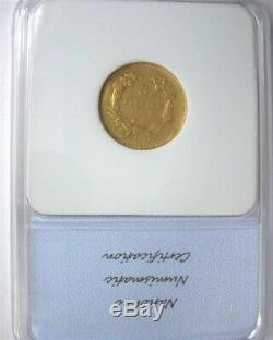 1854-o Indian Princess $3 Gold Extremely Fine. Very Original Surfaces Key Coin