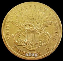 1870 S Gold Us $20 Liberty Head Double Eagle Coin Extremely Fine