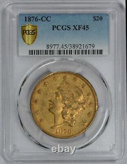 1876 CC Carson City Gold Pcgs Extra Fine Xf45 $20 Liberty Head Double Eagle Coin