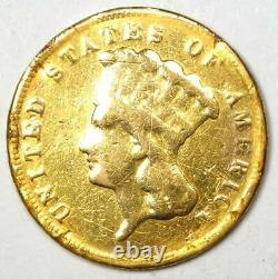 1878 Indian Three Dollar Gold Coin ($3) Fine Details (Damage) Rare Coin