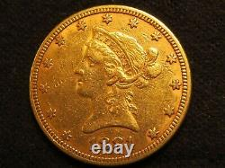 1881 $10 GOLD Eagle Liberty Ten D. Coin pure fine luster dollar round nice mint