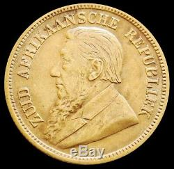 1895 Gold South Africa Republic 1/2 Pond Coin Extra Fine