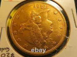 1897 S $20 B. U. GOLD Double Eagle Twenty Dollar Liberty coin fine luster mint