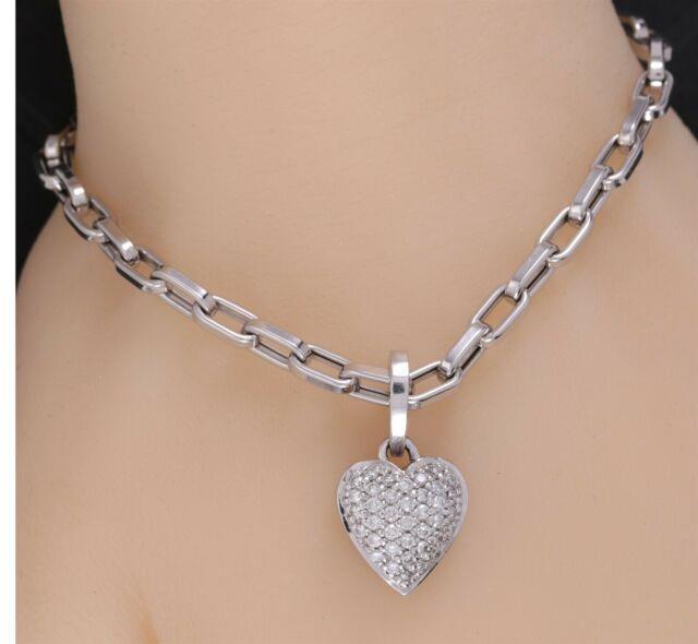 18k Roberto Coin Diamond Heart Pendant & Bracelet Set