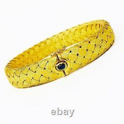18K Roberto Coin Large Woven Silk Flexible Bracelet