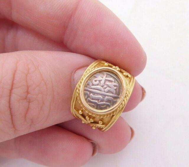 18ct Gold Coin Ring, Heavy 18k 750