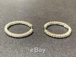 18k White Gold Diamond Hoop Earrings, Roberto Coin