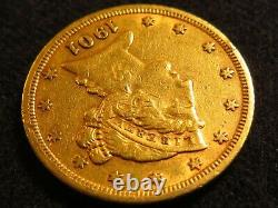 1901 Five D $5 GOLD Half Eagle coin good condition fine Liberty 5 dollar round