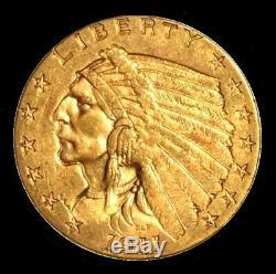 1911 Indian Head $2.50 Fine Gold Quarter Eagle Bullion Coin Nice 4.18 Grams