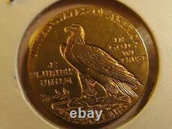 1912 $5 Indian head GOLD U. S. Coin Five Dollars fine half eagle