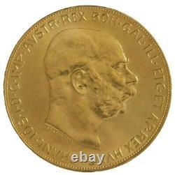1915 100 Corona Gold Austrian/Hungarian Coin. 9802 oz Fine Gold Restrike