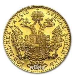 1915 Austria Gold 1 Ducat Coin 0.1106 oz Fine Gold Restrike