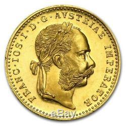 1915 Austria Gold 1 Ducat Coin. 1106 oz Fine Gold