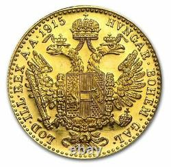 1915 Austria Gold 1 Ducat Coin. 1106 oz Fine Gold BU Restrikes