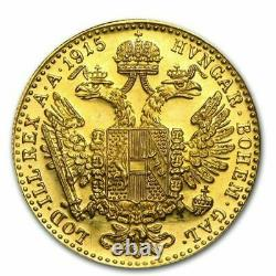 1915 Austria Gold 1 Ducat Coin. 1106 oz Fine Gold BUY IT NOW. STUNNING COIN