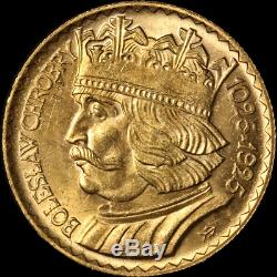1925 Poland 10 Zlotych Gold Coin 0.0933oz AGW 0.900 Fine