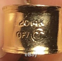 1945 2 1/2 Pesos 22k Fine Mexican Gold Coin Dos Y Medio Pesos W 14k Gf Bezel