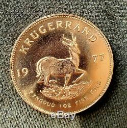 1977 Gold Krugerrand 1 oz Fine Pure Gold South African
